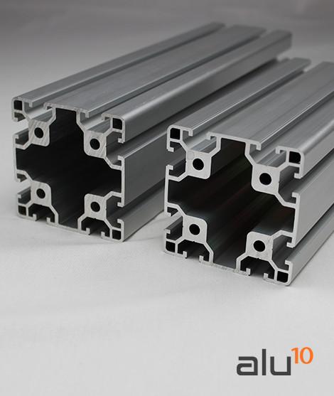 Perfil Aluminio Ranurado 80 80
