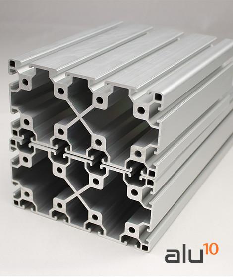 Perfil Aluminio Ranurado 80160