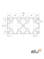 Perfil Aluminio Ranurado 80160 Dimensiones