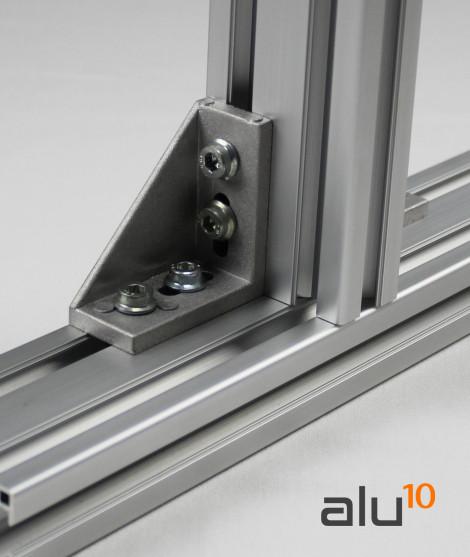 Aluminium Strebenprofil Winkel Strukturelle Aluminiumprofile Aluminiummaschinen Maschinen bewachen Aluminiumtür
