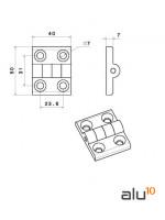 Strukturelle Aluminiumprofile Aluminiummaschinen CNC Aluminium Linearführung Unterstützung Scharnier Nylon