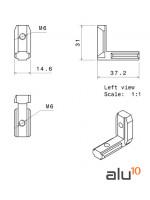 Internal Angular Connector Dimensions