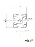 Aluminum Slot Profile 4040 - Dimensions