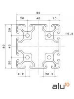 Aluminum Slot Profile 8080 Dimensions