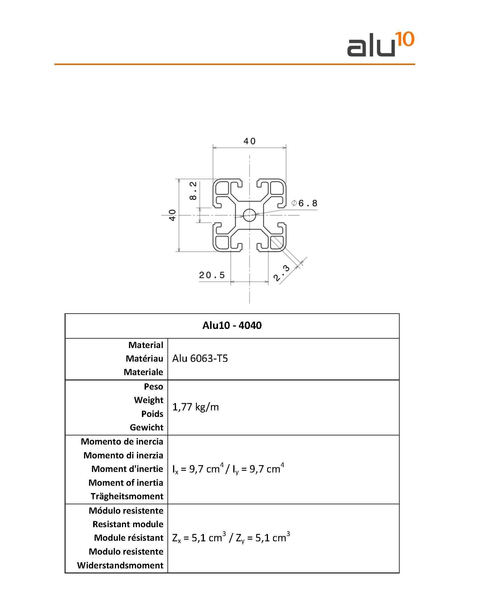 Aluminium Slot Profile 4040 England module System Bristol Playmouth