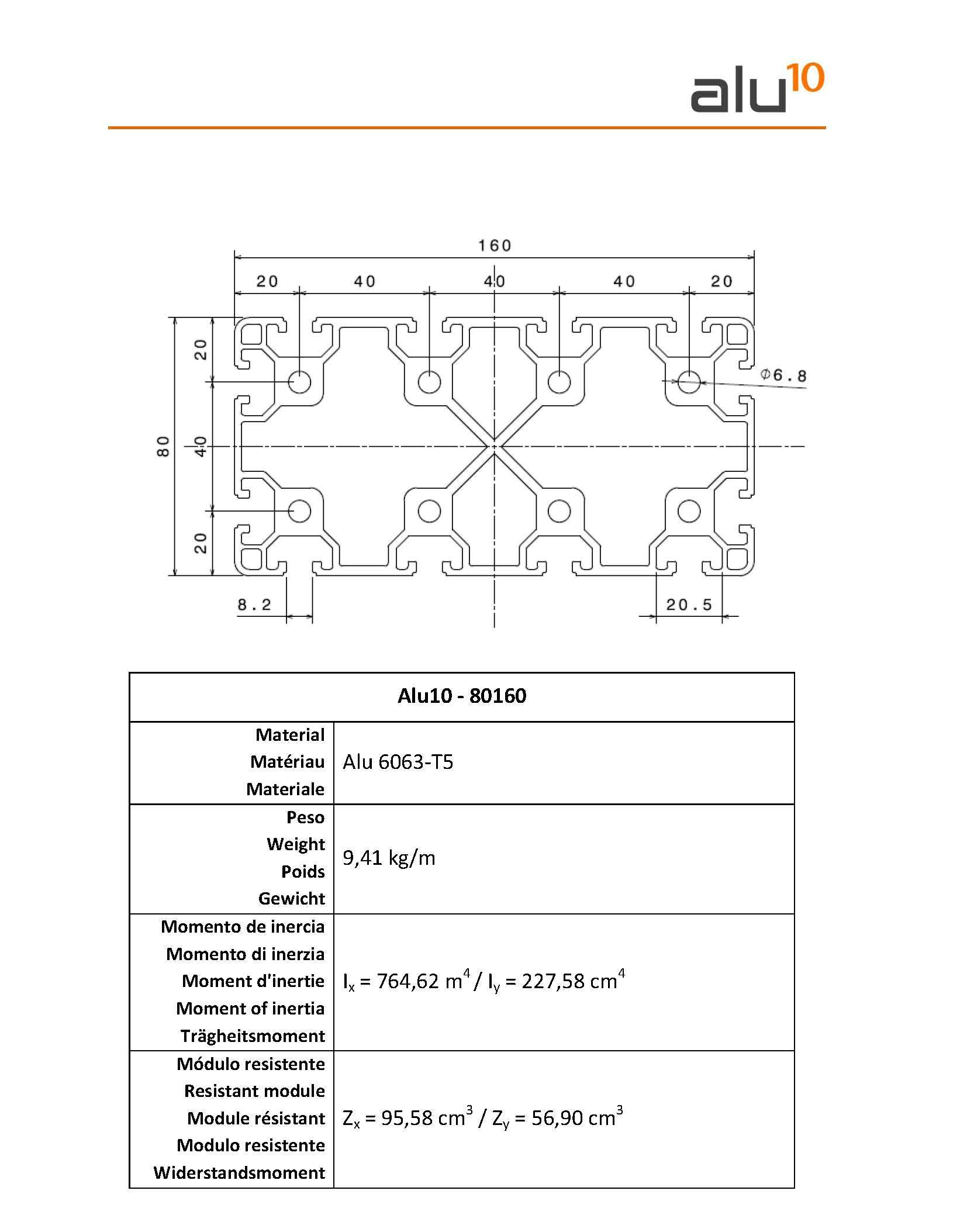 Aluminium Slot Profile 80160 Leeds Conveyors