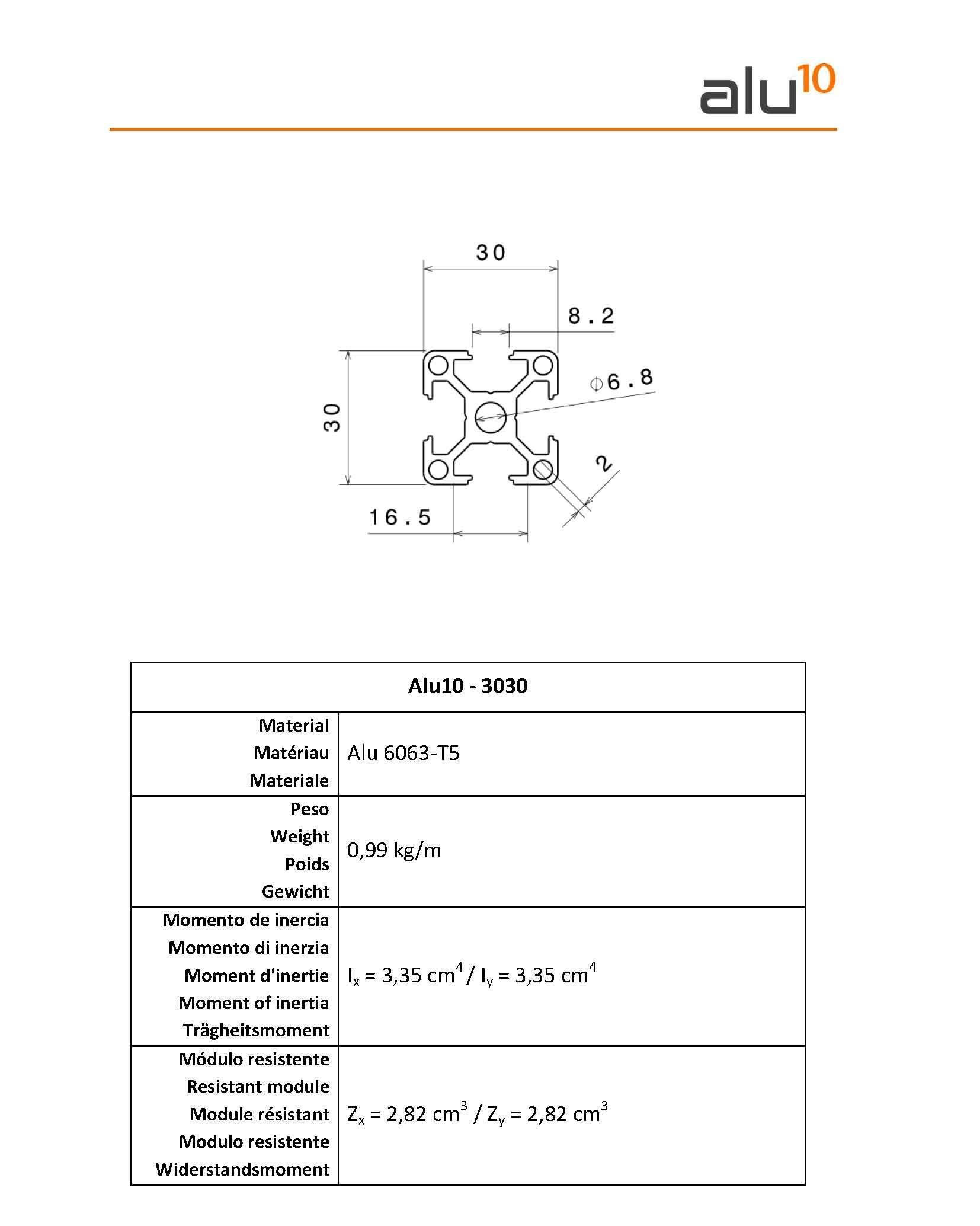 Profilati Alluminio 3030 Milano CNC Tarento Matera
