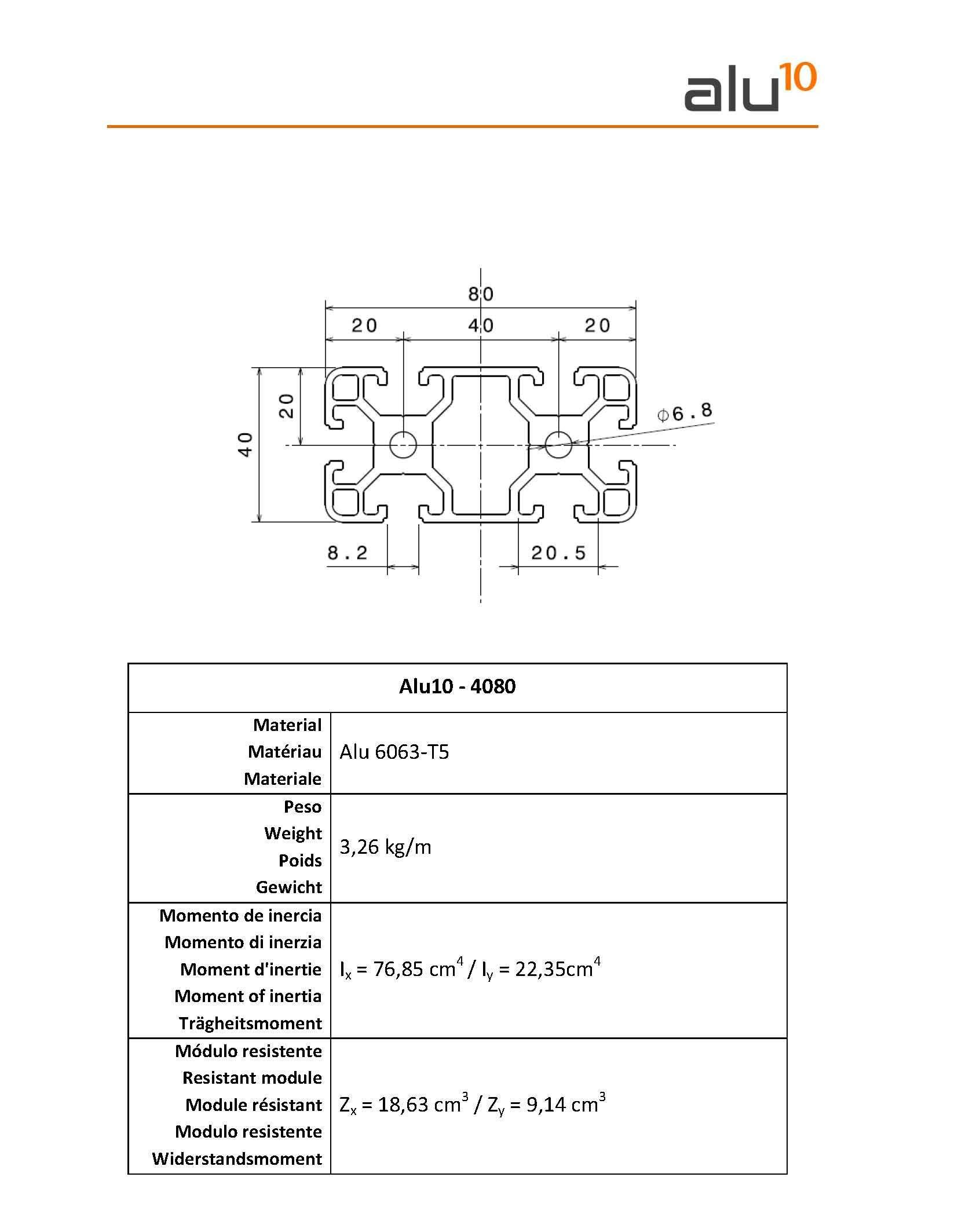 Profili Alluminio 4080 Recintato